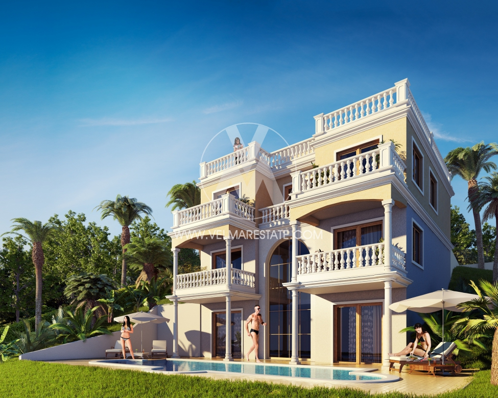 Luxury mediterranean style villa in balchik bulgarian for Luxury mediterranean villas